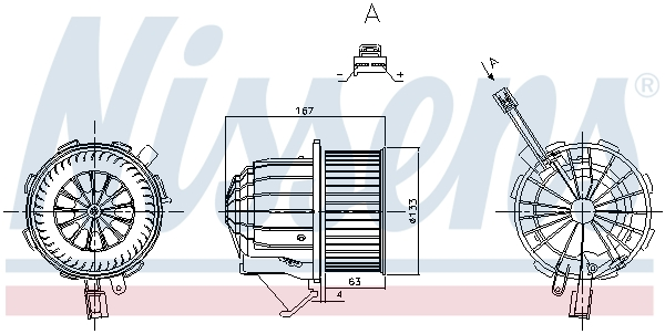 Chauffage et climatisation NISSENS 87428 (X1)
