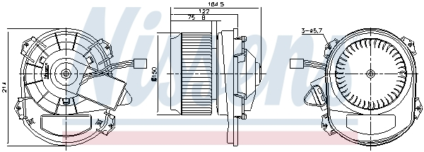 Chauffage et climatisation NISSENS 87430 (X1)
