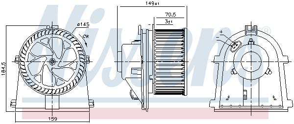 Chauffage et climatisation NISSENS 87437 (X1)