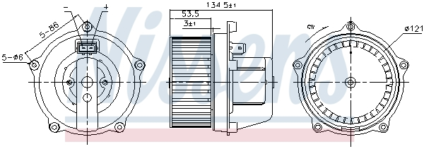 Chauffage et climatisation NISSENS 87444 (X1)