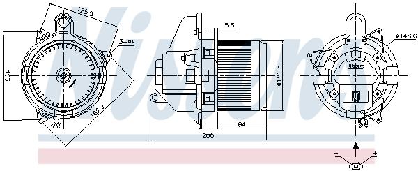Chauffage et climatisation NISSENS 87501 (X1)