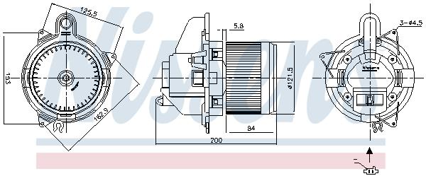 Chauffage et climatisation NISSENS 87502 (X1)