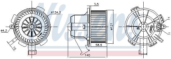 Chauffage et climatisation NISSENS 87503 (X1)