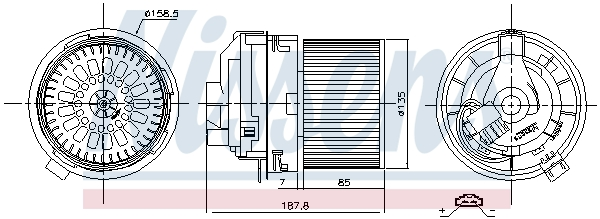 Chauffage et climatisation NISSENS 87508 (X1)