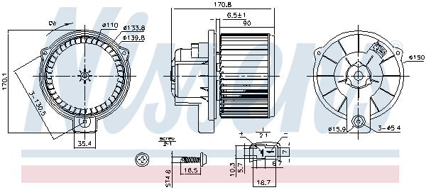 Chauffage et climatisation NISSENS 87709 (X1)