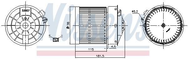 Chauffage et climatisation NISSENS 87722 (X1)