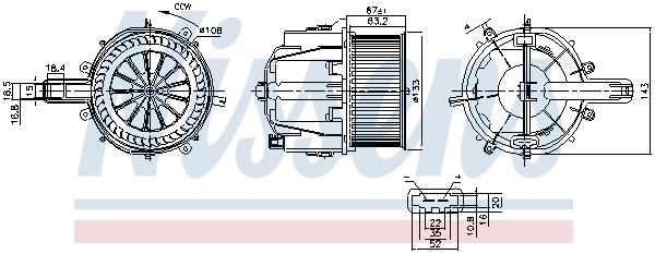 Chauffage et climatisation NISSENS 87759 (X1)