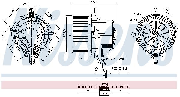 Chauffage et climatisation NISSENS 87760 (X1)