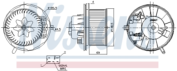Chauffage et climatisation NISSENS 87762 (X1)