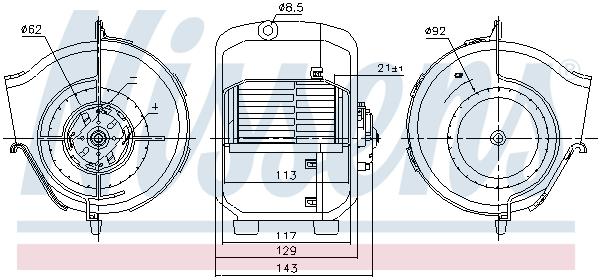 Chauffage et climatisation NISSENS 87768 (X1)
