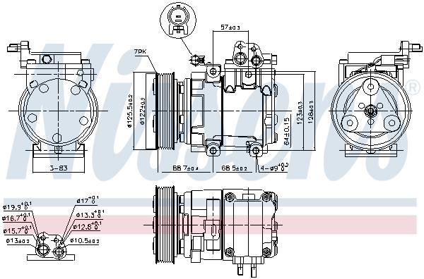 Compresseur NISSENS 890129 (X1)