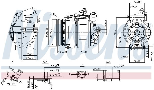 Compresseur NISSENS 890140 (X1)