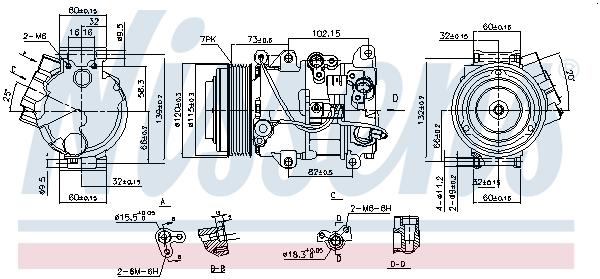 Compresseur NISSENS 890141 (X1)