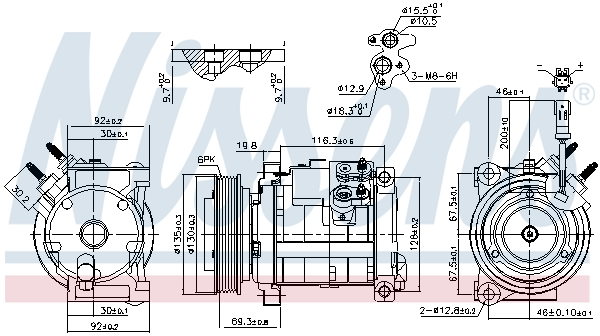 Compresseur NISSENS 890152 (X1)