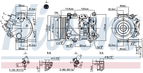 Compresseur NISSENS 890158 (X1)