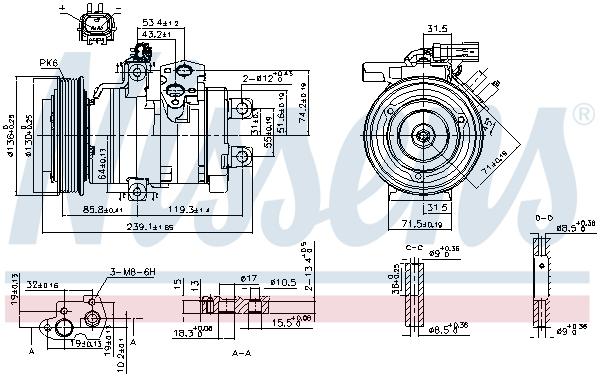 Compresseur NISSENS 890162 (X1)