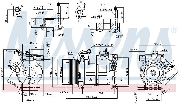 Compresseur NISSENS 890169 (X1)