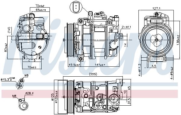 Compresseur NISSENS 890191 (X1)