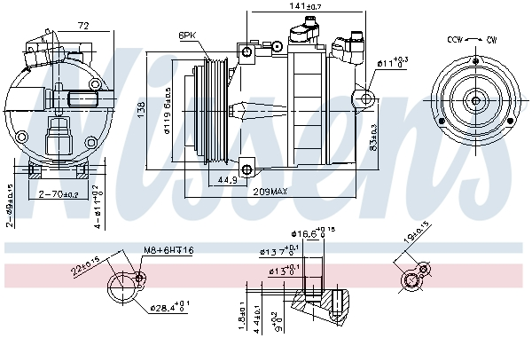 Compresseur NISSENS 89022 (X1)