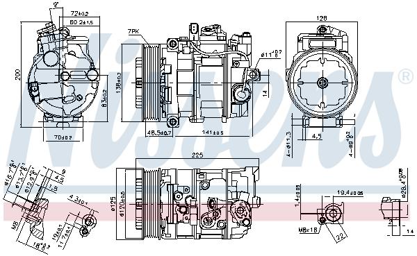 Compresseur NISSENS 890294 (X1)