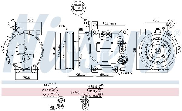 Compresseur NISSENS 890425 (X1)