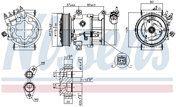 Compresseur NISSENS 89053 (X1)