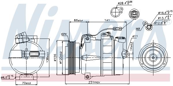 Compresseur NISSENS 89054 (X1)