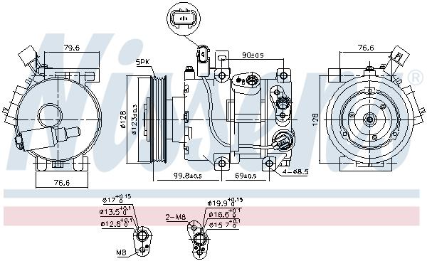 Compresseur NISSENS 890562 (X1)