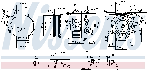 Compresseur NISSENS 890631 (X1)