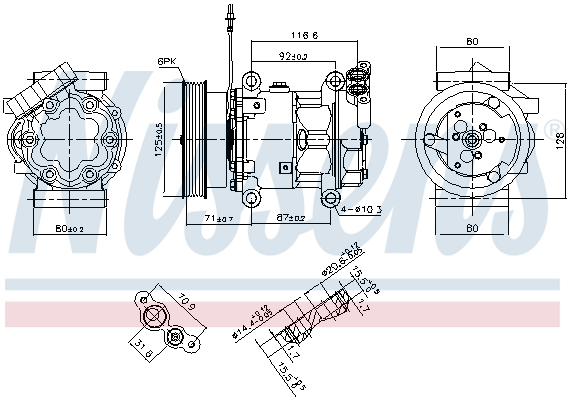 Compresseur NISSENS 89064 (X1)
