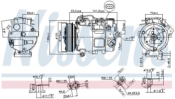 Compresseur NISSENS 890739 (X1)