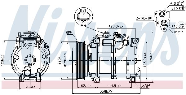 Compresseur NISSENS 89074 (X1)