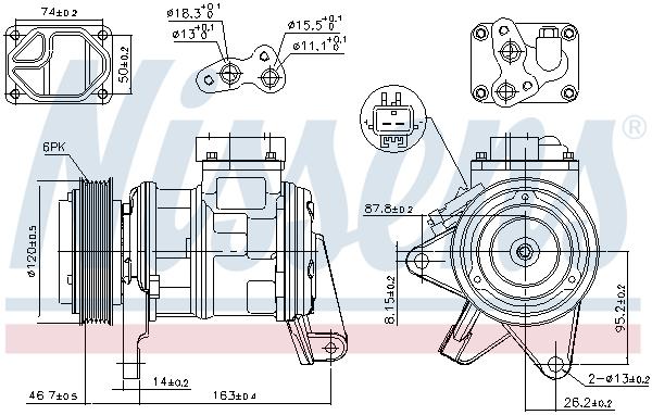Compresseur NISSENS 89087 (X1)