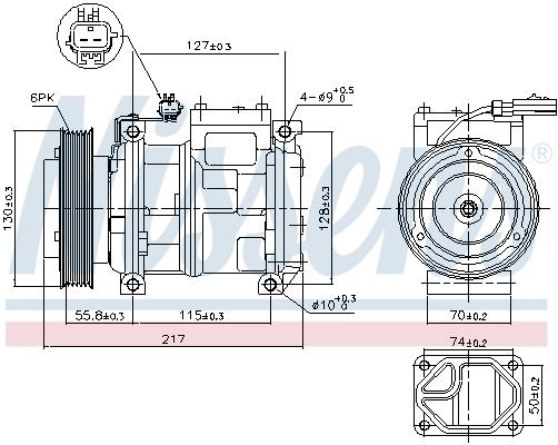Compresseur NISSENS 89097 (X1)