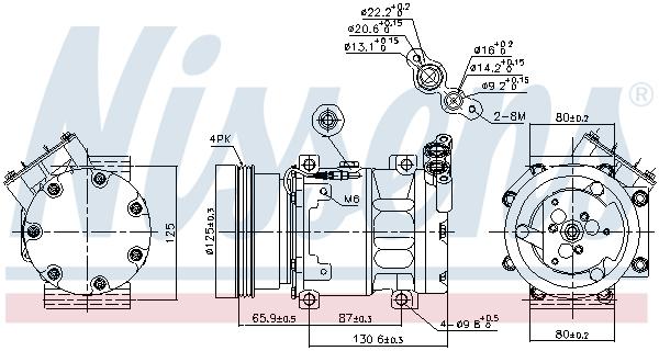 Compresseur NISSENS 89164 (X1)
