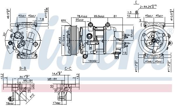 Compresseur NISSENS 89201 (X1)