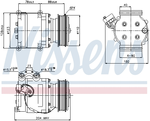 Compresseur NISSENS 89230 (X1)