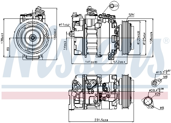 Compresseur NISSENS 89231 (X1)