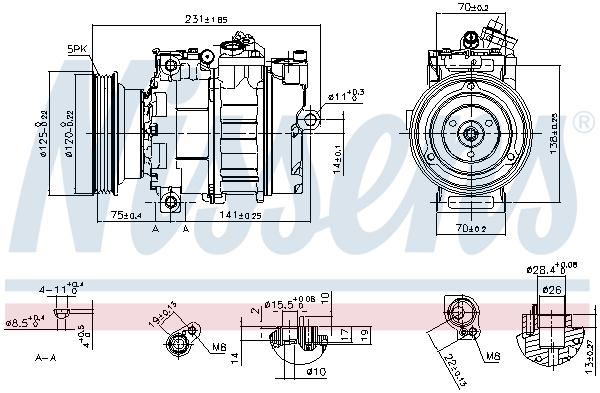 Compresseur NISSENS 89232 (X1)