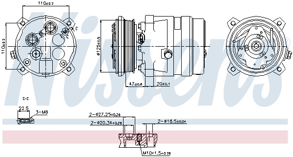 Compresseur NISSENS 89259 (X1)
