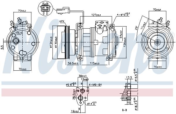 Compresseur NISSENS 89382 (X1)