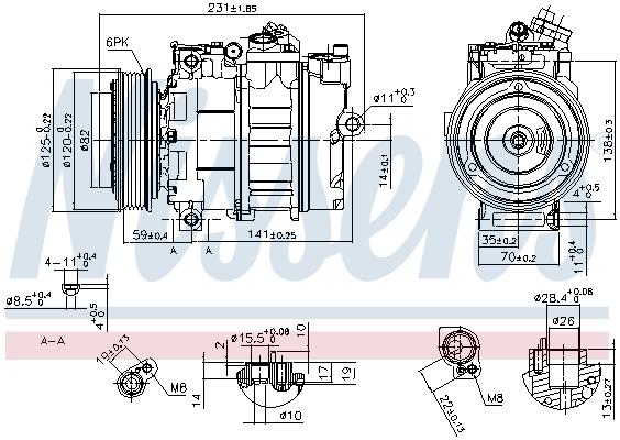 Compresseur NISSENS 89487 (X1)