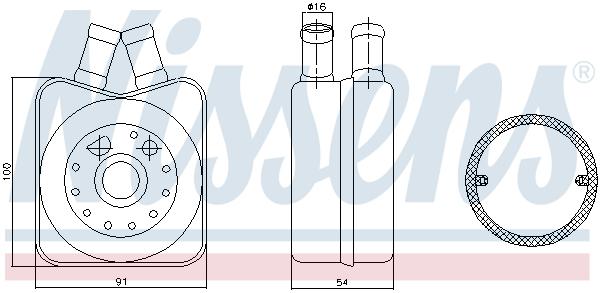 Radiateur huile NISSENS 90606 (X1)