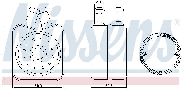 Radiateur huile NISSENS 90608 (X1)