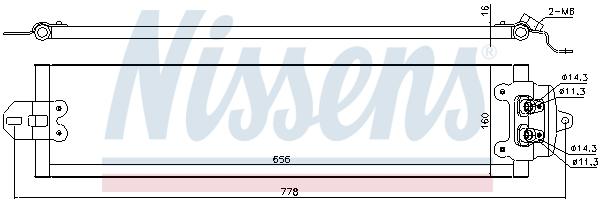 Radiateur huile NISSENS 90617 (X1)