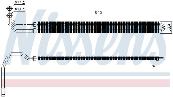 Radiateur de direction NISSENS 90627 (X1)