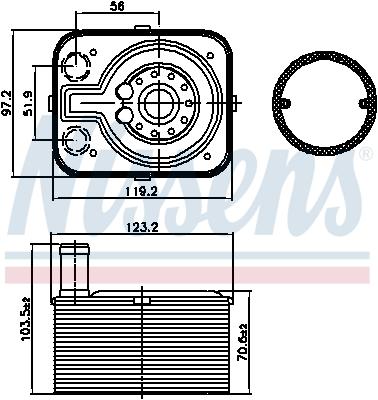 Radiateur huile NISSENS 90655 (X1)