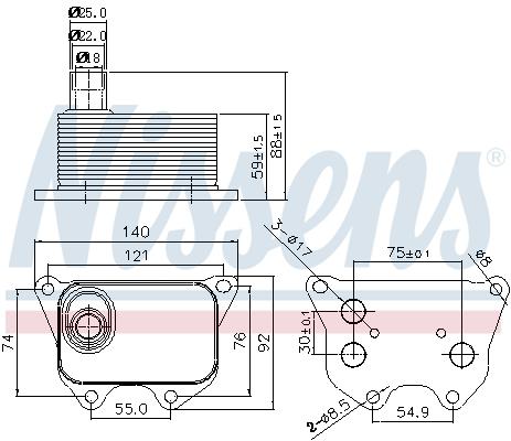Radiateur huile NISSENS 90659 (X1)