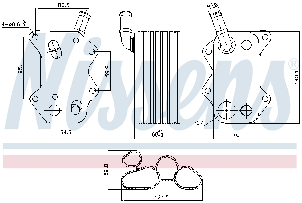 Radiateur huile NISSENS 90660 (X1)