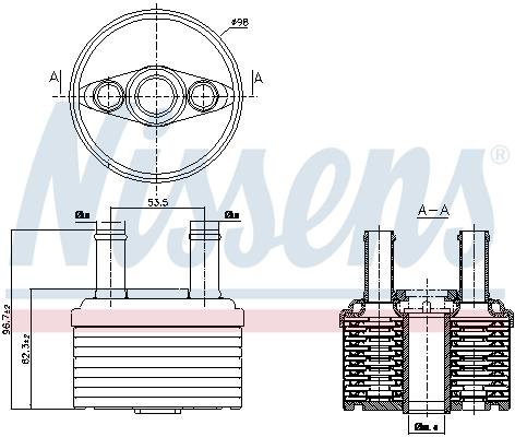 Radiateur huile NISSENS 90664 (X1)